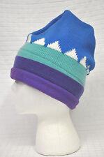 SCI Ski Country Imports KNIT Hat SNOWBOARD Cap BEANIE Purple AQUA Blue USA Clean