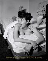 "Woman Jazz Singer Gloria King Nude 8.5x11"" Photo Print Massage Table Hula Rumba"