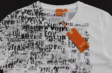 Men's HUGO BOSS ORANGE White Black Pinup Girl T-Shirt Tee Shirt Medium M NWT NEW