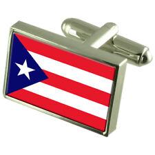 Puerto Rico Gemelos con Bandera Personalizado Grabado Caja de Recuerdo