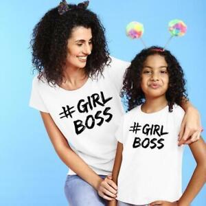 #GIRLBOSS TEES MATCHING T-SHIRT MOTHER AND DAUGHTER GIFT BY VINKI UK (MUM COMBO)