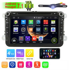"GPS Navigation 8"" Android 7.1 Car Stereo CD DVD Player Radio WiFi 4G USB for VW"