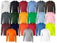 Gildan Mens Ultra Cotton Adult Long Sleeve Plain T Shirt Tshirt Cotton Tee Shirt