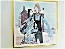 "P. BUCKLEY MOSS ~ RARE ~  ""JOHN AND MARY"" ~  AMISH COUPLE ~ SIGNED ~ 69/1000"
