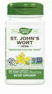 St. John's Wort 0.3% Hypericin 100 Caps VEGAN, Promotes Positive Mood. EXP:1/23