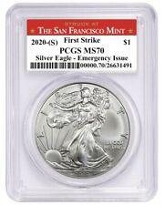 2020 (S) $1 American Silver Eagle PCGS MS70 Emergency Productio San Francisco FS