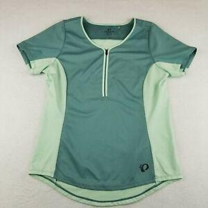 Pearl Izumi 1/4 Zip Cycling Shirt Jersey Size Large Short Sleeve Womens Stretch