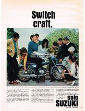 1967 SUZUKI 250cc X-6 HUSTLER Blue Motorcycle Vtg Print Ad