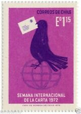 Chile 1972 #820 Semana Internacional de la Carta MNH