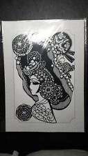 """Chinese Traditional Hand-made Paper Cut Gift, 10"""" x 7"""", Peking Opera, US Seller"""