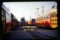 Pacific Electric PCC Trolleys, California in 1950's, Original Slide e4b