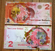 2015 SILVER RESERVE AUSTRALIA 2 LUNAR DOLLARS UNC >  GOAT