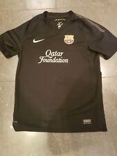 Barcelona Away Shirt 2011 Child 12-13yrs Nike Black Short Sleeves Football Top