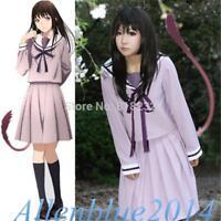 Noragami Yukine Iki Hiyori JK School Uniform Sailor Suit Outfit Cosplay Costumes