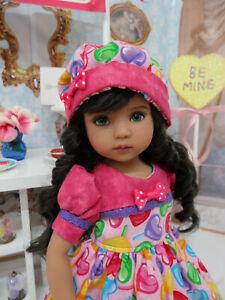 "Lollipop, Lollipop - dress, hat & shoes for 13"" Effner Little Darling Doll BJD"