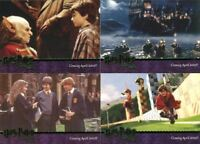 Harry Potter and the Sorcerer's Stone Green Foil Promo Card Set 4 Cards