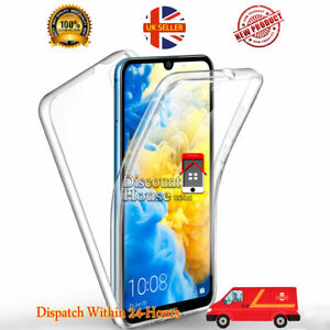 For Huawei Phones Shockproof 360 TPU PC Soft Silicon Front and Hard Back Case