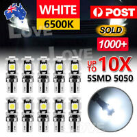 10PCS T10 Wedge 5SMD Parker Number Plate LED Bulbs W5W 194 168 131 WHITE CANBUS