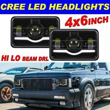 "DOT Approved 4x6"" LED Headlight For Ford Jeep Chevrolet GMC Kenworth Red&White"