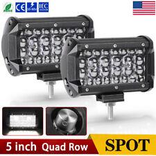 2pcs 5inch 168W LED Pods Light Bars Off Road Driving Spot Fog Lamp Truck ATV 4WD