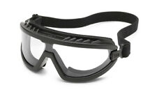 Gateway Wheelz Foam Padded Anti Fog Clear Black Safety Goggles Glasses Z87+