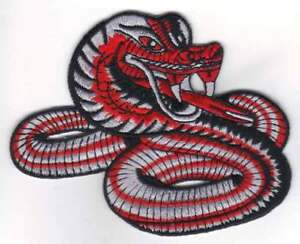 """RED SNAKE4.5""""W KARATE MARTIAL ARTS PATCH - NEW"""
