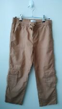 COUNTRY ROAD Boys Brown Cargo Pants - Size 12