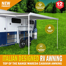 NEW Caravan Awning Roll Out 3.5m x 2.5m Italian Designed Aluminium Wareda