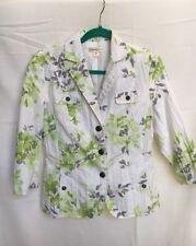 Coldwater Creek Light Spring Summer Floral Jacket