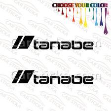"2 x8"" Tanabe /A car racing window vinyl sticker decal diecut"
