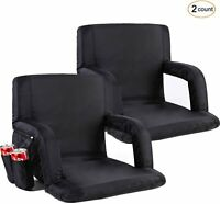 2 Pack Stadium Seats/Chairs Bleacher Seats with Back by Ohuhu Folding & Portable