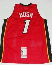 CHRIS BOSH SIGNED NBA CUSTOM MIAMI HEAT JERSEY JSA COA