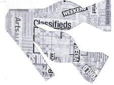 Newspaper Bow tie / Self-tie Bow tie / Black & White Newsprint / News Reporter