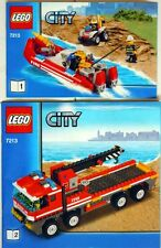LEGO CITY FIRE 7213 Off Road Fire Tuck & Fire Boat * Mint in sealed bag, No Box*