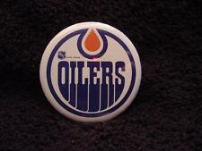 VINTAGE 1970's Edmonton Oilers 2 1/4 Inch Old Logo Pinback, MINT!!