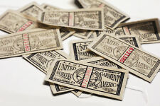 LOT reproduction Union Made label cloth tag vintage Hercules Headlight worker US