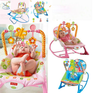 Baby Electric Bouncer Rocker Vibration Chair Portable Musical Cradle Swing Seat