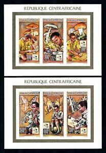 [93782] Central African Rep. 1995 Scouting Butterflies 2 Imperf. Sheets MNH
