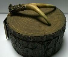 "Antler Decorative Box, 8""x 6"", Lodge or Cabin Decor, Wildlife or Nature"
