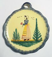 Vintage Henriot Quimper France F335 D301 Small Wall Hanging Plate