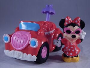 Disney Toy Little People Minnie Mouse Car Mattel Fisher Price