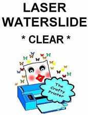 LASER Water Slide Decal Paper -  1 Sheet - CLEAR