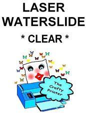 LASER Waterslide Decal Paper -  1 Sheet - CLEAR