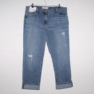 Womens NEXT Boyfriend Casual Blue Mid Rise Jeans Size UK 18 Regular