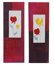 Tulips Set Of 2 Framed Canvas Oil Painting 90cm Each Wall Art