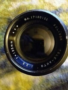 Rare Classic Soligor Auto Tele 135mm F3.5 T4 TX Mount Lens Mint Made in Japan NR