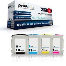 4x Cartuchos de Tinta reciclados para HP businessinkjet 2200TN 10 11 Tóner Plus