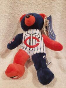VERY CUTE Minnesota Twins Joe Mauer Forever Collectibles Beanie Bear, NEW&NICE!