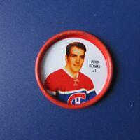 HENRI RICHARD  1962-63  Shirriff coin  # 41  Montreal Canadiens  1963  62-63