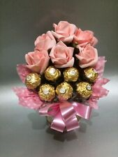 Pink Roses & Chocolates Bouquet Gift Hamper For Any Occassion Thank you Birthday